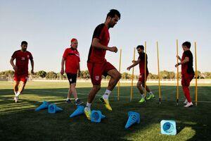 عکس/ کاپیتان تیم ملی در تمرینات تراکتور