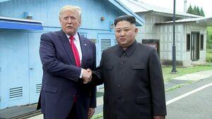 فیلم/ دیدار ترامپ و اون در نقطه مرزی کره