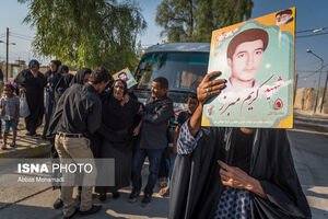 عکس/ تشییع پیکر شهیدان مفقودالاثر در فارس و سمنان