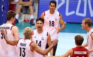 نگاهی آماری به دیدار والیبال ایران و آمریکا