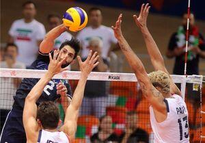 شکست ۳ بر صفر والیبال ایران مقابل آمریکا