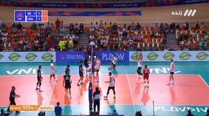 فیلم / خلاصه والیبال ایران ۰-۳ آمریکا