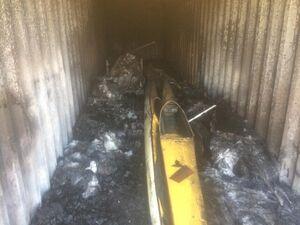 قایقهای هیات گناوه در آتش سوخت +عکس