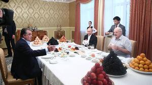 عکس/ دورهمی روسای جمهور روسیه،بلاروس و تاجیکستان