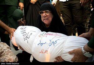 عکس/ تشییع دو شهید گمنام در میناب