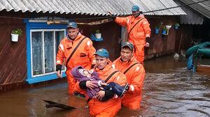 تصاویر جدید از مناطق سیل زده روسیه