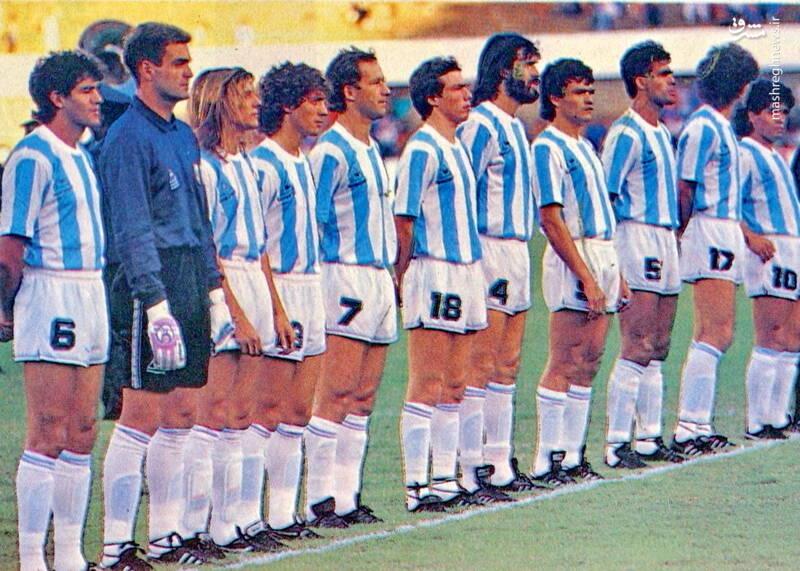 گابریل کالدرون و مارادونا در تیم ملی آرژانتین - کوپا آمه ریکا 1989