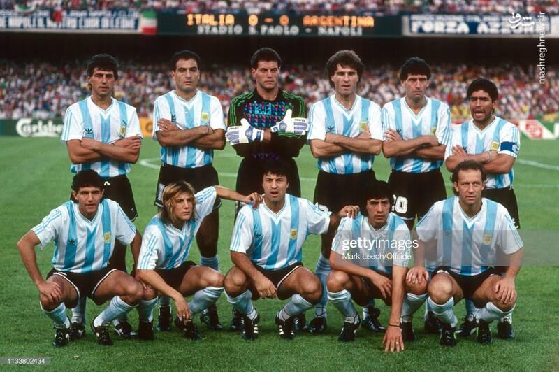 گابریل کالدرون و مارادونا در تیم ملی آرژانتین - جام جهانی 1990