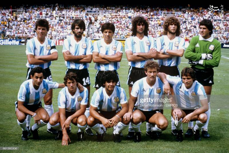 گابریل کالدرون و مارادونا در تیم ملی آرژانتین - جام جهانی 1982