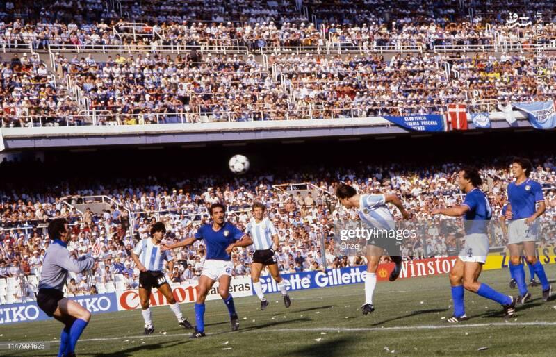 دیدار تیم های ملی آرژانتین و ایتالیا - جام جهانی 1982