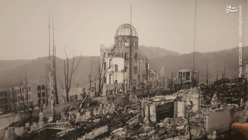 ساختمان گنبدی در نزدیکی مرکز انفجار