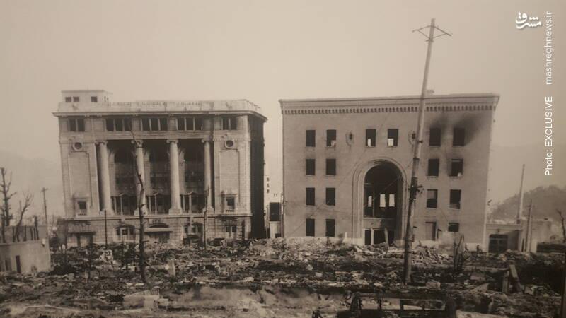 دو ساختمان اداری هیروشیما از نمایی دیگر