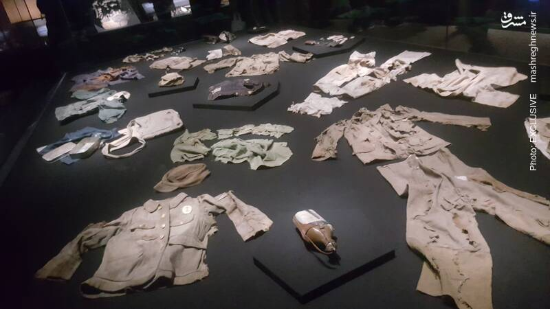 باقیمانده لباس های قربانیان انفجار