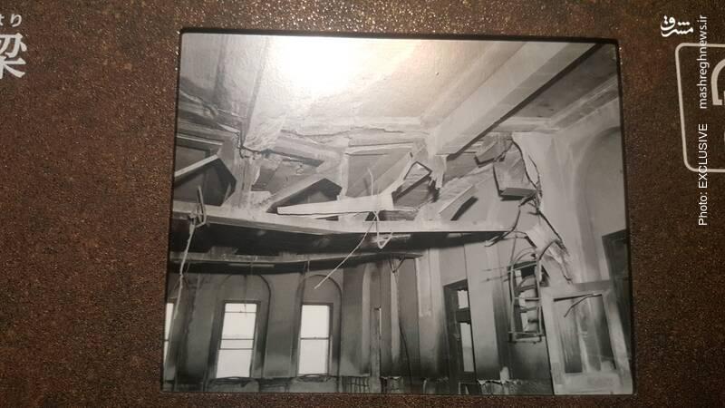 شدت انفجار و حرارت به حدی بود که تیرآهنهای ساختمانها نیز ذوب شدند