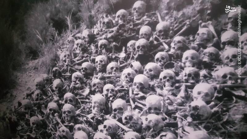 بقایای اجساد صدها نفر از قربانیان انفجار اتمی