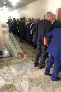 عکس/ صف طویل متهمان بانک سرمایه در دادگاه!