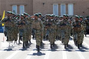 صبحگاه عمومی تیپ 25 واکنش سریع ارتش جمهوری اسلامی ایران