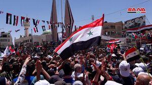 حمایت  مردم ریف دمشق از ارتش سوریه