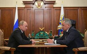 عکس/ جلسه اضطراری پوتین با وزیر دفاع روسیه
