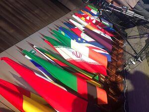 اقدام جالب یک نماینده مجلس در جابجایی پرچم صهیونیستها +عکس