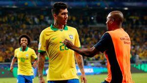 عکس/ رختکن برزیل پس از صعود به فینال