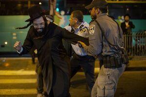 تظاهرات یهودیان ارتدوکس در اعتراض به نظام خدمت اجباری در اسراییل