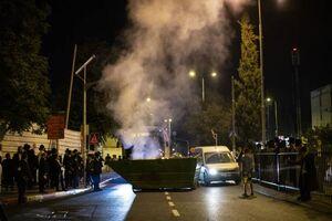 فیلم/ واژگون کردن خودروهای صهیونیستها توسط معترضان