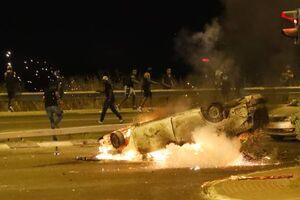 به آتش کشیدن خودروها در تل آویو