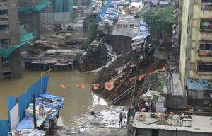 خسارت سنگین بارش باران در هند