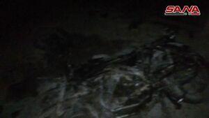 فیلم/ انفجار موتورسیکلت بمب گذاری شده در سوریه