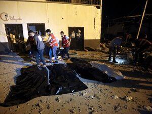 عکس/ حمله مرگبار به اردوگاه مهاجران در لیبی