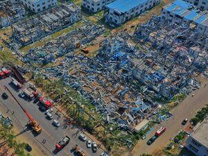 عکس/ خسارت شدید طوفان در چین