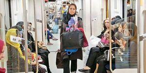 ایستگاه مترو به بازار شام تبدیل شده +عکس