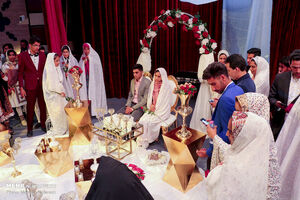 عکس/ جشن پیوند آسمانی ۱۲۰ زوج در خراسان جنوبی