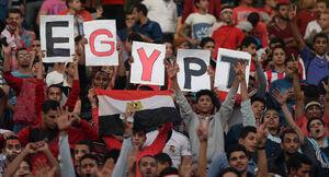 شعار ضداسرائیلی هواداران مصر در دقیقه ۷۳