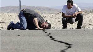 عکس/ زلزله و آتشسوزی همزمان در کالیفرنیا!