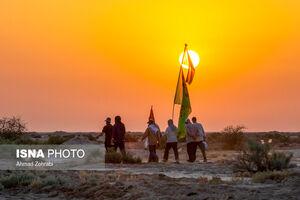 عکس/ حرکت کاروان پیاده امام رضا(ع) قم