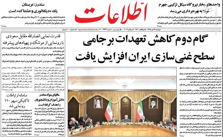 اطلاعات: گام دوم کاهش تعهدات برجامی سطح غنی سازی ایران افزایش یافت
