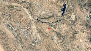 تصویر ماهوارهای از مرکز زلزله خوزستان