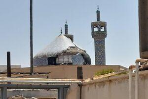 عکس/ خسارت زلزله به گنبد مسجدجامع مسجدسلیمان