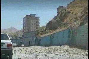 فیلم/ ریزش کوه در مسجد سلیمان بر اثر زلزله