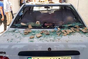 عکس/ خسارت زلزله به خودروهای مردم مسجد سلیمان