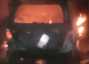فیلم/ ماشین گرانقیمت منشا را آتش زدند!