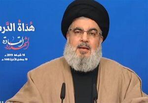 فیلم/ پاسخ نصرالله به ادعای رژیم صهیونیستی درباره حمله به مقر ایران