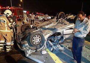 تصادف مرگبار پژو ۲۰۶ با عابرپیاده +عکس
