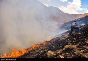 عکس/ آتشسوزی کوه آبیدر سنندج