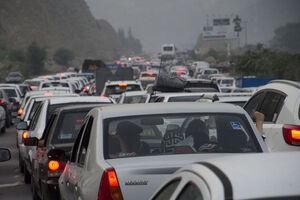 ترافیک روزهای تعطیل در محور هراز - کراپشده
