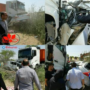 تصادف وحشتناک تریلر با کیا اسپورتیج با 5 نفر کشته!