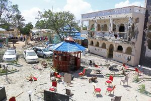 عکس/ حمله مرگبار به هتلی در سومالی