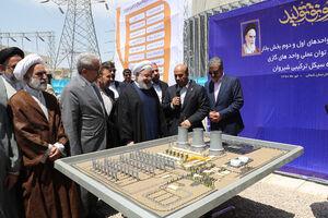 عکس/ افتتاح نیروگاه شیروان توسط روحانی